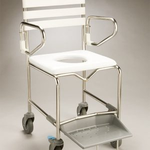 Shower Commode SS Transit 120kg rent, hire or for sale in Sydney NSW