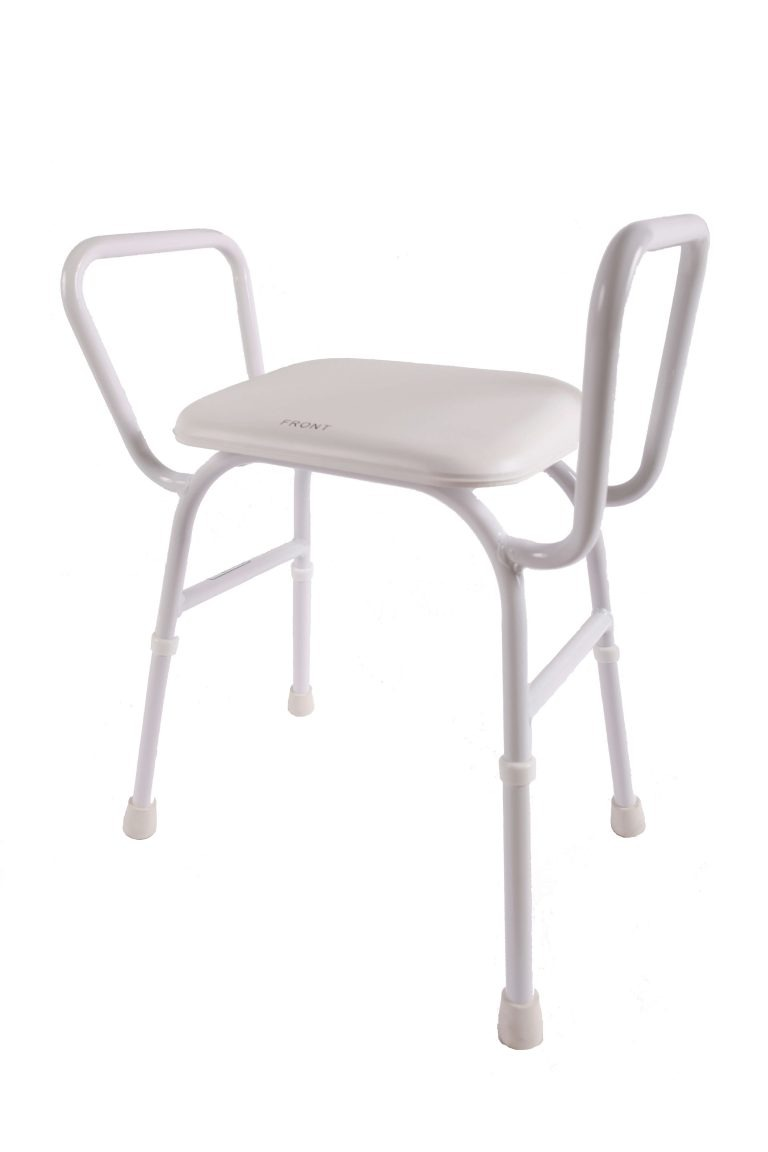 Shower stool with arms no back