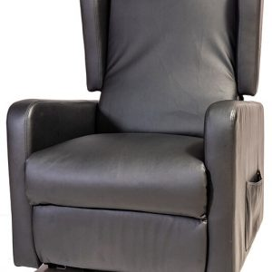black arm chair recliner