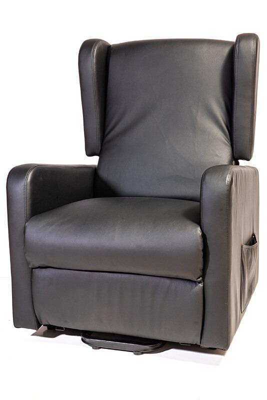 black arm chair recliner