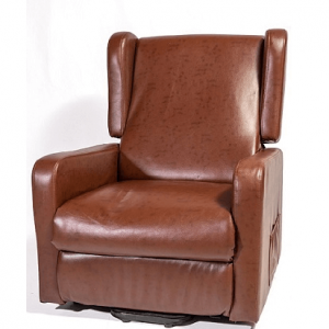 brown couch for elderly or disabled