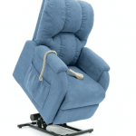 blue electric arm chair
