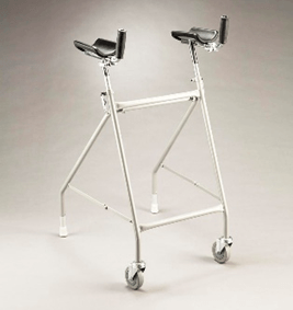forearm walker with 2 wheels
