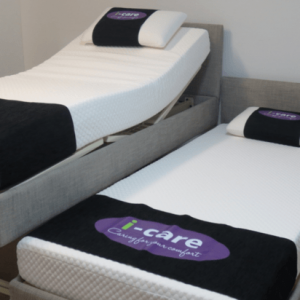 icare bed split raised